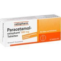 Paracetamol 500mg von Ratiopharm