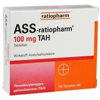 Ass-Ratiopharm 100mg Tah  Tabletten