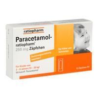Paracetamol 250mg Zäpfchen